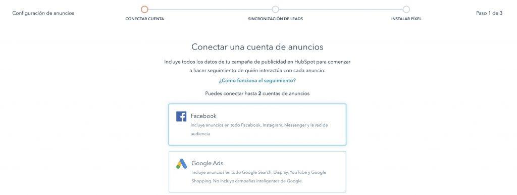 Plataforma para hacer publicidad de HubSpot en Facebook Ads, LinkedIn Ads y Google Ads